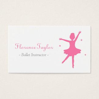 Modern, Elegant, Pink Ballet Instructor Business Card