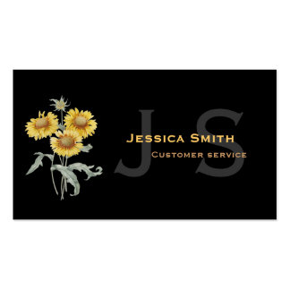 Modern, elegant, pretty sunflower professional pack of standard business cards