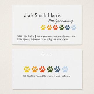 Modern Elegant Rainbow Pets Animal Paws