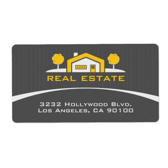 Modern Elegant Real Estate Address Label