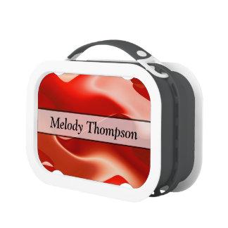 Modern Elegant Red Design Lunchboxes