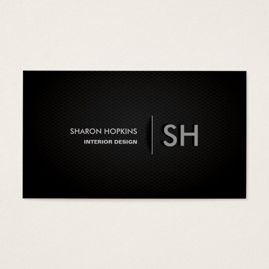 Modern Elegant Simple Plain Black Sleek Business Card