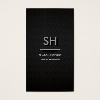 Modern Elegant Simple Plain Black Sleek Card