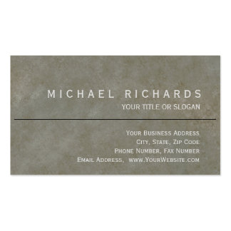 Modern Elegant Simple Plain Stone Wall Pack Of Standard Business Cards