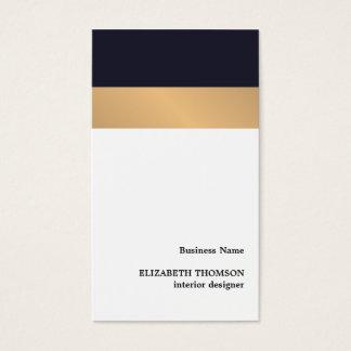 Modern Elegant Stripes Blue Faux Gold Designer