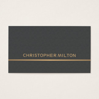 Modern Elegant Texture Grey Faux Gold Consultant Business Card