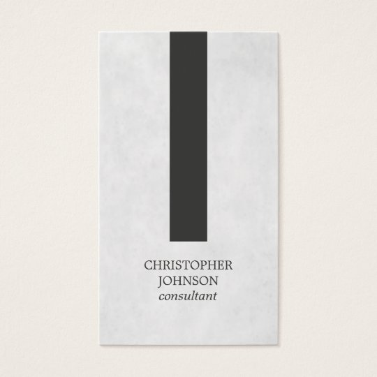 Modern Elegant Texture Grey Stripe Consultant Business Card