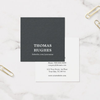 Modern Elegant Texture Grey White Consultant Square Business Card