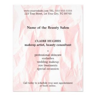 Modern Elegant Texture Light Pink Makeup Artist 11.5 Cm X 14 Cm Flyer