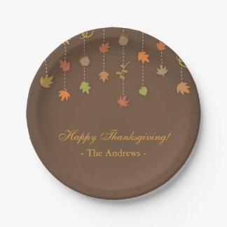 Modern Elegant Thanksgiving Party Supplies Paper Plate