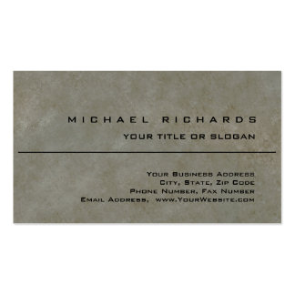 Modern Elegant Unique Plain Stone Wall Pack Of Standard Business Cards