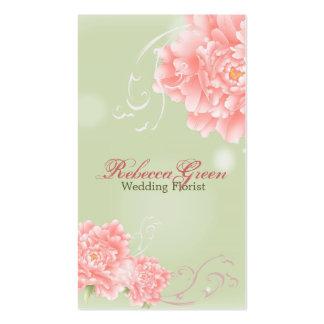 modern elegant vintage pink Peonies floral Pack Of Standard Business Cards