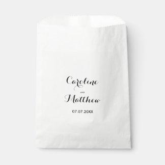 Modern Elegant Wedding Favor Bag