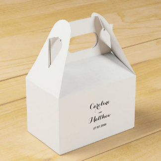Modern Elegant Wedding Favor Box