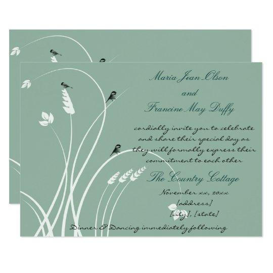 Modern, Elegant Wedding Invitation