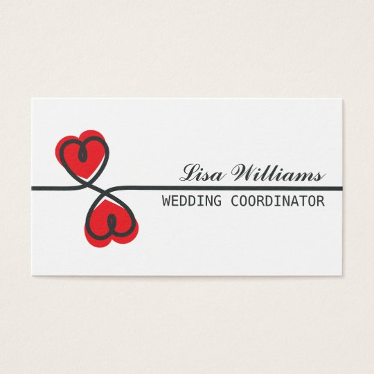 Modern elegant wedding planner business cards