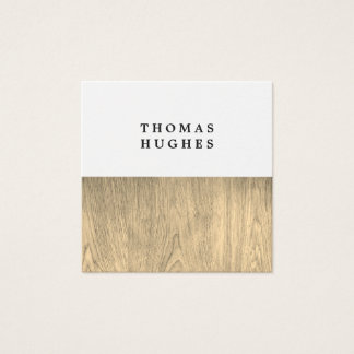 Modern Elegant Wooden Consultant Square Business Card