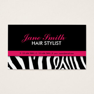 Modern Elegant Zebra Print Professional Stylish Business Card