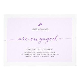 Modern Engagement Party Invitation - Alex Purple