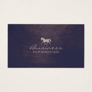 Modern Equine Horse Riding Violet Equestrian Business Card