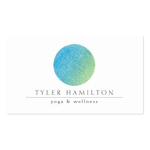 Modern Etched Blue Green Circle Business Card