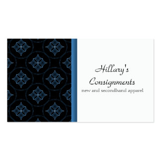 Modern Extravagance Business Card, Blue Pack Of Standard Business Cards