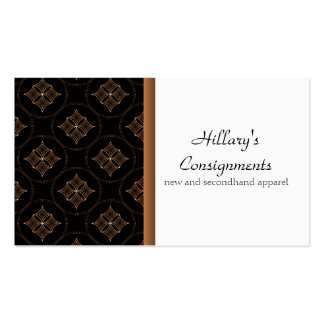 Modern Extravagance Business Card, Brown Pack Of Standard Business Cards