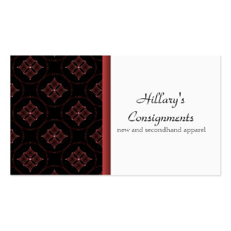 Modern Extravagance Business Card, Crimson Pack Of Standard Business Cards