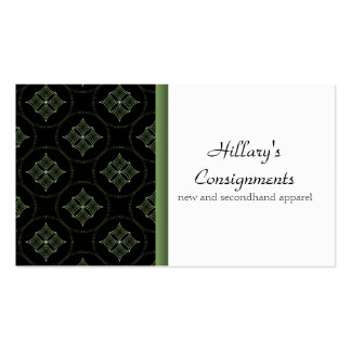 Modern Extravagance Business Card, Green Pack Of Standard Business Cards