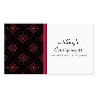 Modern Extravagance Business Card, Magenta Pack Of Standard Business Cards