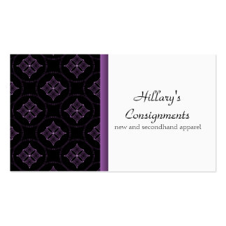 Modern Extravagance Business Card, Purple Pack Of Standard Business Cards