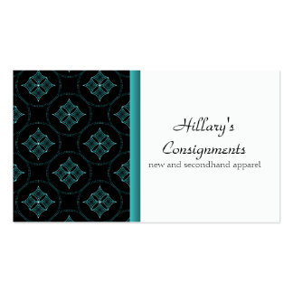 Modern Extravagance Business Card, Turquoise Pack Of Standard Business Cards