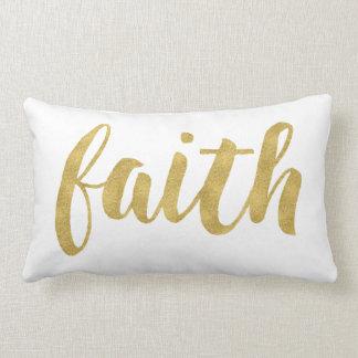 Modern Faith In Gold Decorative Lumbar Cushion