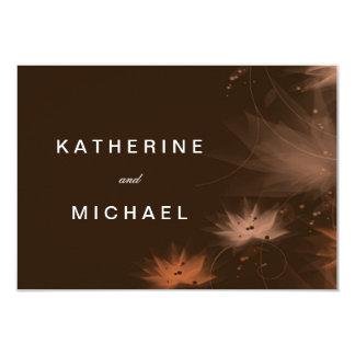Modern Fall Floral Wedding Response Cards 9 Cm X 13 Cm Invitation Card