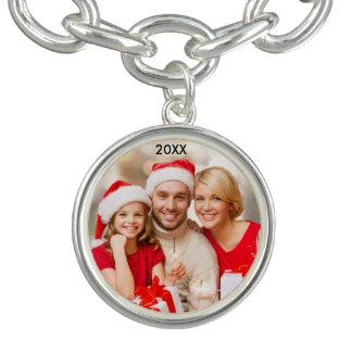 Modern Family Elegant Photo Christmas Bracelet