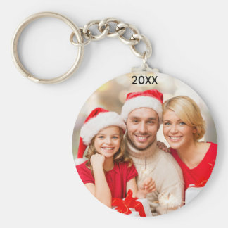 Modern Family Photo Christmas Button Keychain