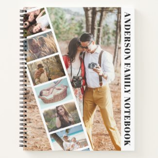Modern Family Photo Collage Strip Notebook