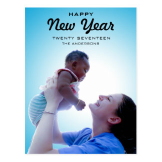 Modern Family Photo | Happy New Year 2017 Postcard