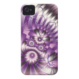 Modern fantasy flowers Case-Mate iPhone 4 case