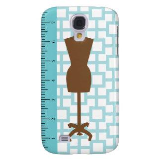 Modern Fashionista iPhone Case / Blue & Brown Galaxy S4 Case