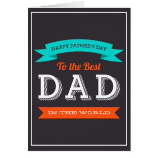 Modern Father's Day Typography Design Card