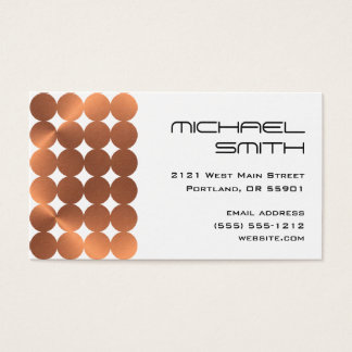 Modern faux-copper dots design business card