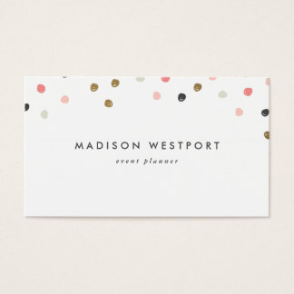 Modern faux foil polka dot business card