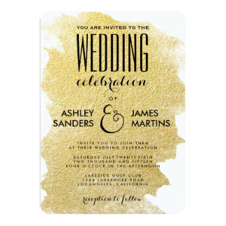 MODERN FAUX GOLD CARD