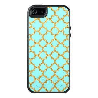 Modern Faux Gold Glitter Mosaic Quatrefoil Pattern OtterBox iPhone 5/5s/SE Case