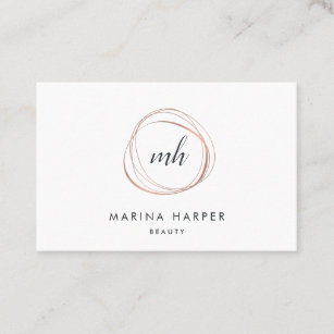 modern faux rose gold abstract business card - Rose Gold Business Cards