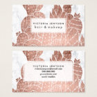 Modern faux rose gold cactus marble pattern business card