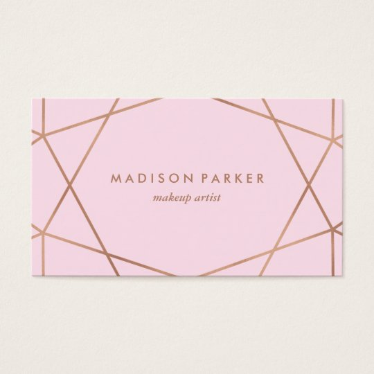 Modern Faux Rose Gold Geometric on Blush Pink