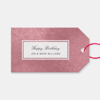 Modern faux rose gold gift tags