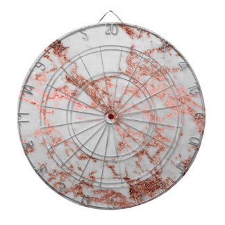 Modern faux rose gold glitter marble texture image dartboard